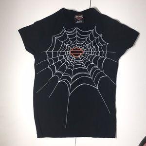 Harley Davidson spider web tee